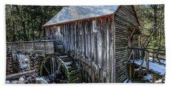Cades Cove Grist Mill In Winter Beach Sheet