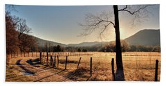 Beach Towel featuring the photograph Cades Cove, Spring 2017,i by Douglas Stucky