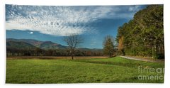Cades Cove Tennessee Beach Towel by Lena Auxier
