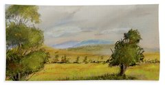 Cade's Cove Vista - Scenic Landscape Beach Sheet by Barry Jones
