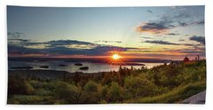 Cadillac Mountain Sunrise  Beach Towel