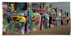 Cadillac Ranch Beach Towel by Tim Stanley