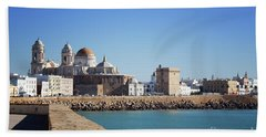 Beach Towel featuring the photograph Cadiz Cathedral Andalusia by Lynn Bolt