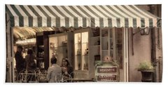 Cafe Beignet 2 Beach Towel by Jerry Fornarotto