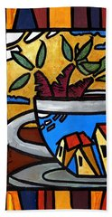 Cafe Caribe  Beach Towel by Oscar Ortiz