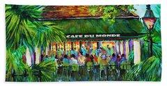 Cafe Du Monde Morning Beach Towel