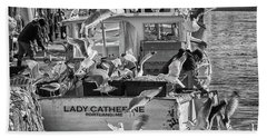 Cafe Lady Catherine Black And White Beach Towel