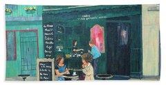 Cafe Odette Beach Sheet by Diane Arlitt