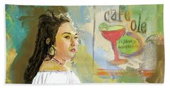 Cafe Ole Girl Beach Towel