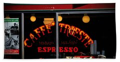 Caffe Trieste Espresso Window Beach Sheet