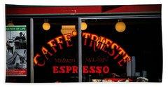 Caffe Trieste Espresso Window Beach Towel