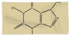 Caffeine Molecular Structure Vintage Beach Towel