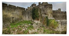 Beach Towel featuring the photograph Cahir Castle by Marie Leslie