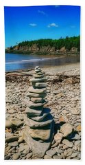 Cairn In Eastern Canada Beach Sheet