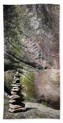 Cairn Rock Stack At Jones Gap State Park Beach Sheet