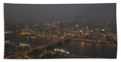 Cairo Smog Beach Towel by Darcy Michaelchuk
