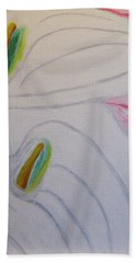 Beach Towel featuring the painting Cala Lillies by Barbara Yearty