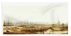 Beach Towel featuring the digital art Calcutta In 18th Century by Asok Mukhopadhyay