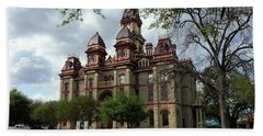 Beach Towel featuring the photograph Caldwell County Courthouse by Ricardo J Ruiz de Porras