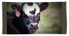 Beach Towel featuring the photograph Calf Number 444 by Laurinda Bowling