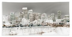 Beach Sheet featuring the digital art Calgary Skyline 3 by Stuart Turnbull