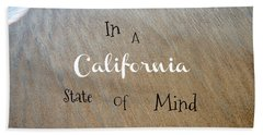 Cali State Of Mind Beach Towel