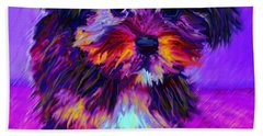 Calico Dog Beach Sheet by Jane Schnetlage
