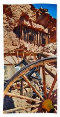 Beach Towel featuring the photograph Calico Ghost Town Mine by Kyle Hanson