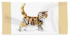 Calico Kitten Beach Towel