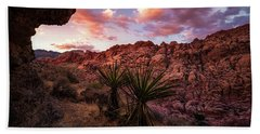 Calico Sunset Beach Towel by Bjorn Burton
