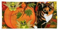 Calico's Mystical Pumpkin Beach Towel