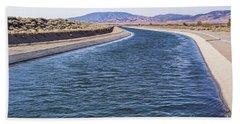 California Aqueduct S Curves Beach Towel