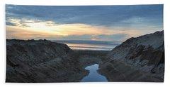 California Beach Stream At Sunset - Alt View Beach Sheet