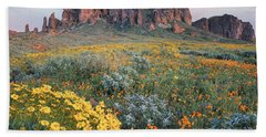 California Brittlebush Lost Dutchman Beach Towel