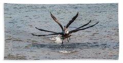 California Brown Pelicans Flying In Tandem Beach Sheet
