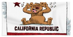 California Budget La La La Beach Towel
