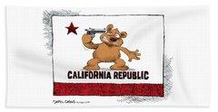 California Budget Suicide Beach Towel