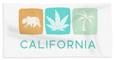 California Cannabis- Art By Linda Woods Beach Towel