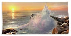 California Coast Beach Towel by Michael Rock