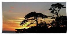 California Coastal Sunset Beach Towel