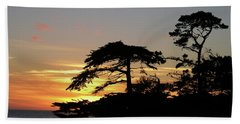 California Coastal Sunset Beach Towel
