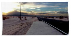California Desert Highway Beach Towel by Christopher Woods