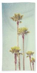 California Dreaming - Palm Tree Print Beach Towel by Melanie Alexandra Price