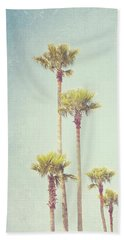 California Dreaming - Palm Tree Print Beach Sheet by Melanie Alexandra Price