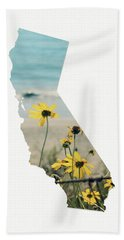 Beach Towel featuring the mixed media California Dreams Art By Linda Woods by Linda Woods