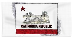 California Drought Beach Sheet