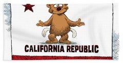 California Empty Pockets Beach Towel