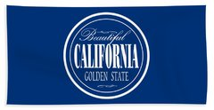 California Golden State Design Beach Towel