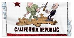 California Governor Handoff Beach Towel
