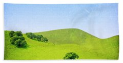 Beach Towel featuring the photograph California Hillside by Melanie Alexandra Price